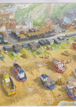 Mounted print of Fishing Fleet by David Marsh